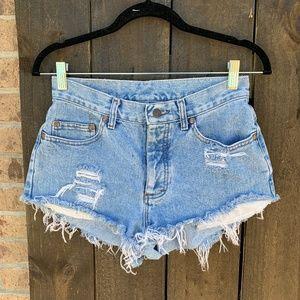 Vintage Lee Upcycled Distressed Cutoff Shorts 27
